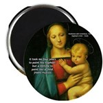 "Raphael Madonna Painting 2.25"" Magnet (100 pack)"