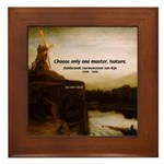 Rembrandt Painting & Quote Framed Tile