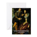 Rubens Self Portrait & Quote Greeting Cards (Packa