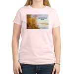 Alfred Sisley Nature Quote Women's Pink T-Shirt
