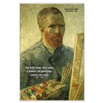 Vincent Van Gogh Quote Large Poster