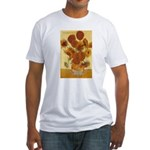 Van Gogh Painting & Quote Fitted T-Shirt