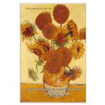 Van Gogh Painting & Quote Large Poster