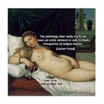 Freud Erotic Quote and Titian Tile Coaster