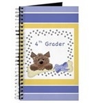 Blue Fourth Grade Spiral Journals